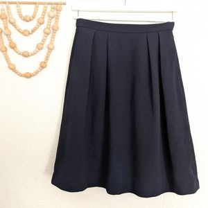 High Waisted Navy Blue A-Line Uniqlo Skirt